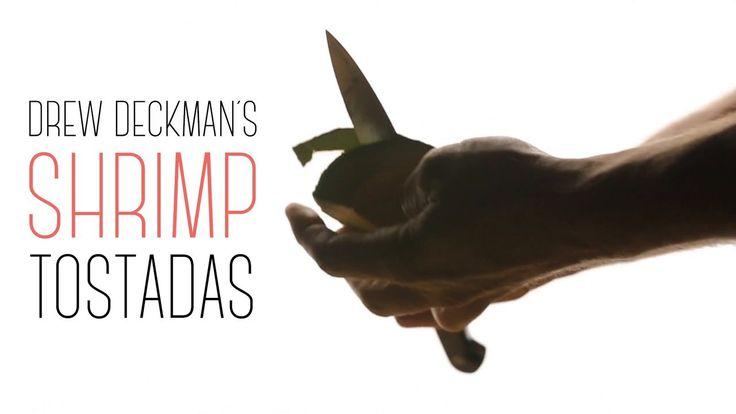 Drew Deckman's Shrimp Tostadas. To learn more, read the full story at Tasting Table: goo.gl/D1xPcF  Drew Deckman of Deckman's en el Mogor (d...