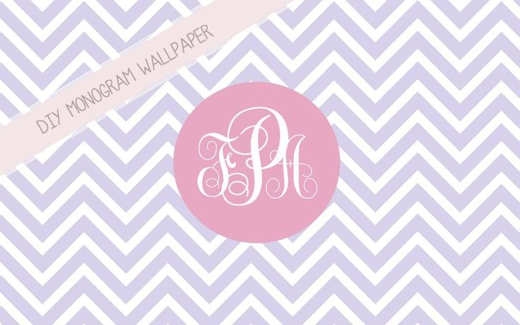 Primp & Paper: DIY Monogram Wallpaper. I just made one for my computer and it was sooo easy!