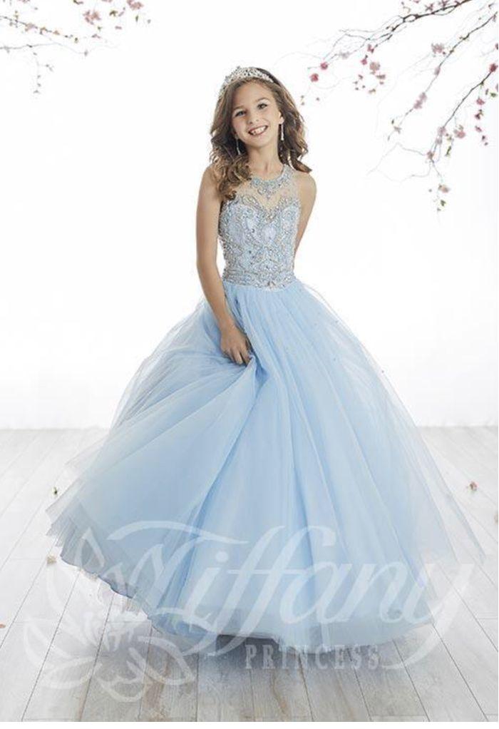 11+Aqua Blue Dresses For Girls
