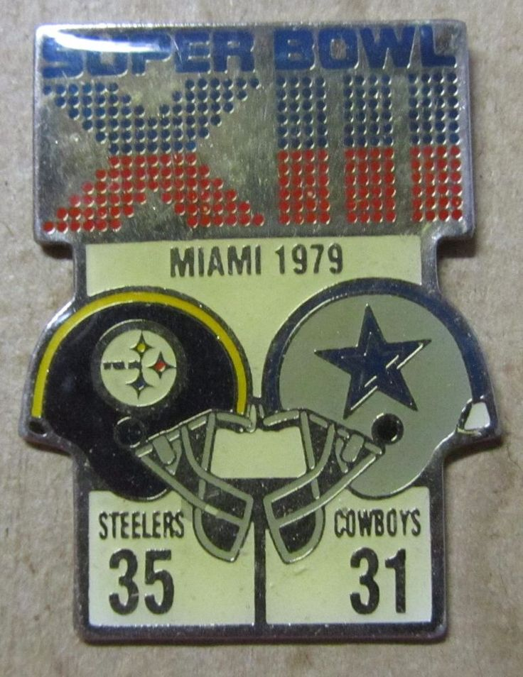 Rare Super Bowl XIII Steelers Vs. Cowboys 1979 pin Starline NFL Free Shipping #Starline