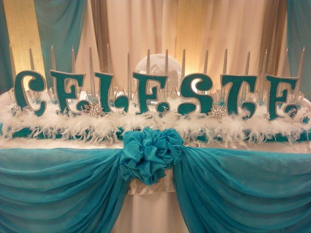 Head Table I Like The Cake Behind The Head Table So You: 118 Best Images About Winter Themed Sweet 16 Party On