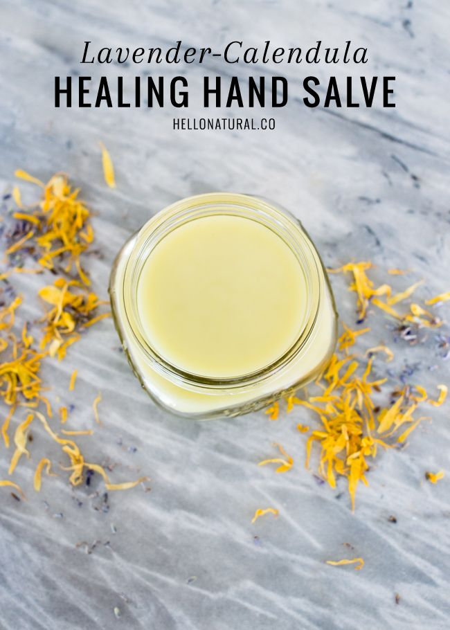 Lavender Calendula Hand Salve Recipe | HelloNatural.co
