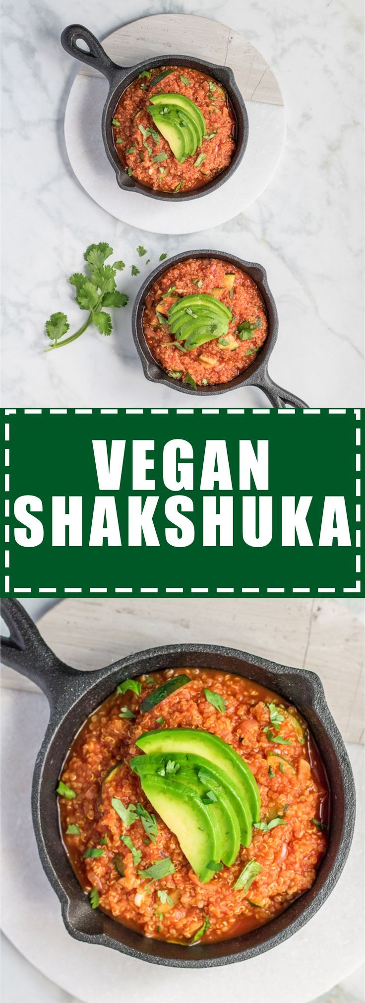 This vegan Shakshuka will be your new favourite breakfast! It's loaded with quinoa and bursting with flavour!