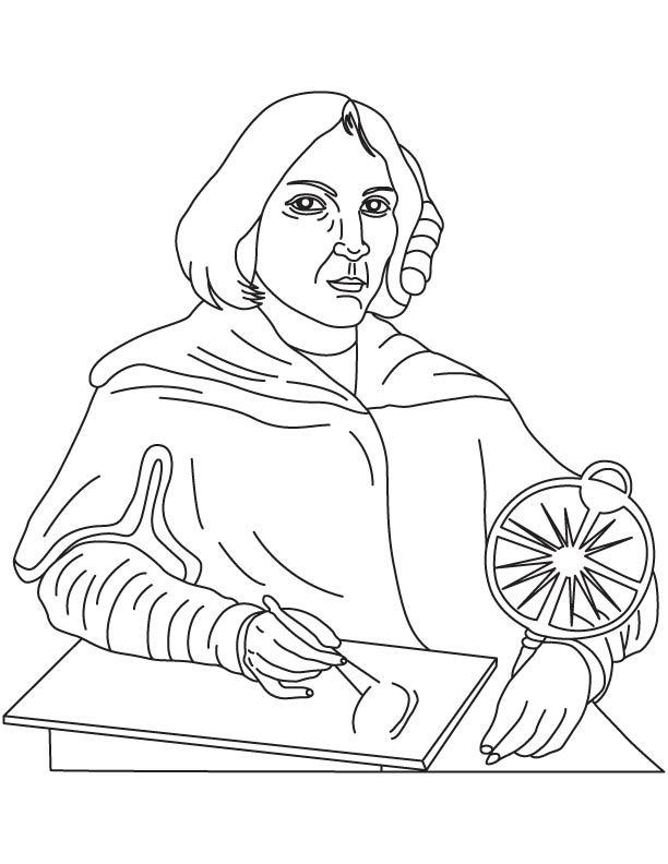 Nicolaus Copernicus coloring page
