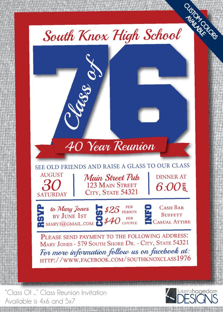 class reunion invites - Apmayssconstruction