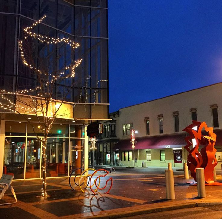 December night on The Commons Corner | photo by Yvette Kuhlman