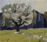 Otto Makila - White poplar, 1947, Painting: oil on...