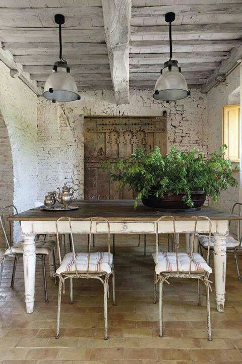 rustic white dining