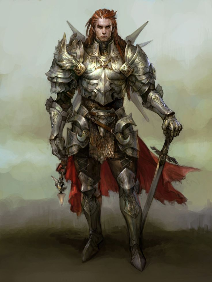 Fantasy Knight Art Dragon's knight - game art
