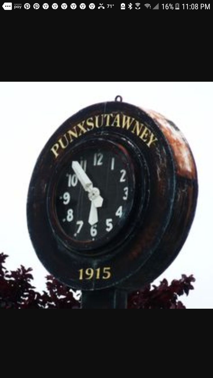 Home of  Punxsutawney Phil the ground hog;  Punxsutawney, PA
