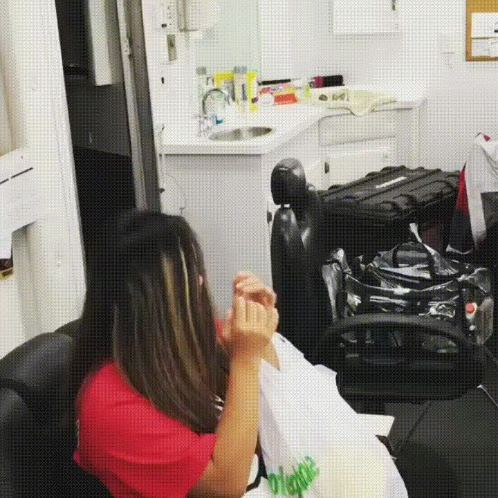 """Her reaction is priceless. Had a very special visitor waiting to meet me in my make up trailer tonight - her name is Hoku.  After meeting this awesome young lady, who happens to be a rockstar cheerleader for Kahuku High School here in Hawaii - I've officially become her biggest fan.. literally I am physically her biggest fan.""   Full video can be found on his instagram account: https://www.instagram.com/therock/  Edit: this gem of a comment http://imgur.com/0lSbJFT deserves more upvotes…"