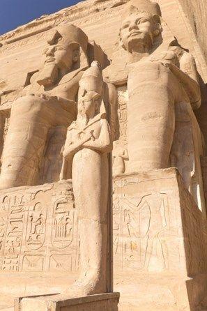 Sculptures at Abu Simbel Temple