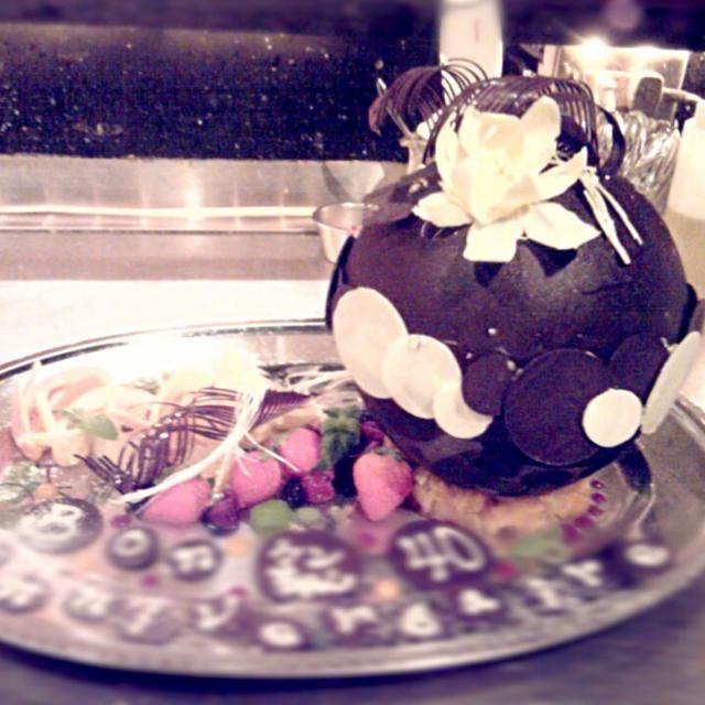 テンパリグ楽しいな~♪やっぱり細工物が好き。 - 15件のもぐもぐ - 球体のバースデーケーキ♪♪♪ by syoshiki329
