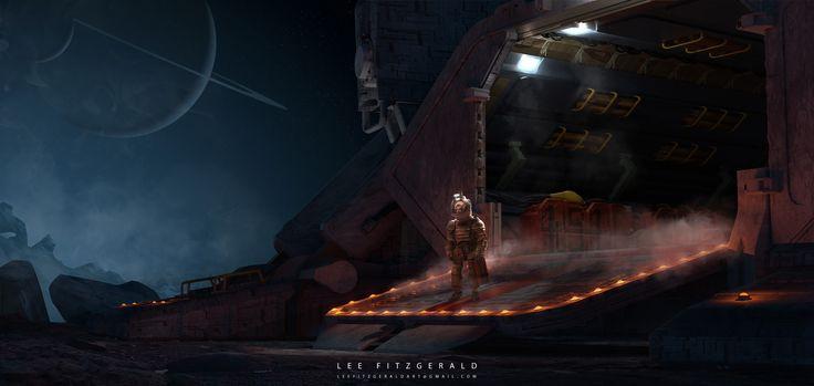 Landing, Lee Fitzgerald on ArtStation at https://www.artstation.com/artwork/o0nmB