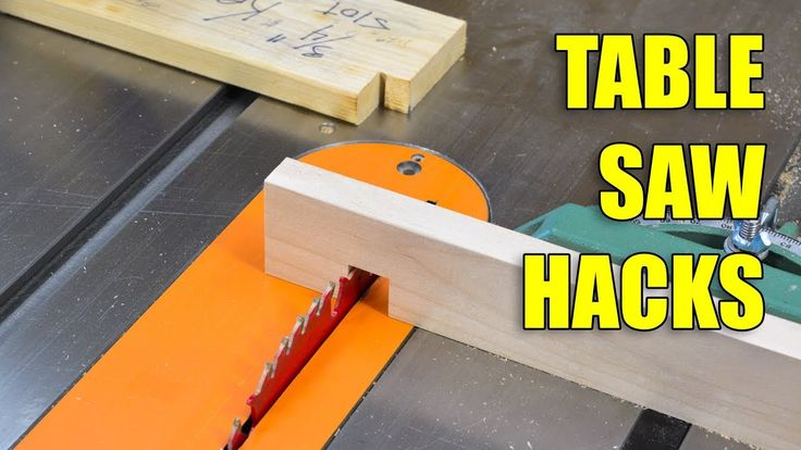 5 Quick Table Saw Hacks!
