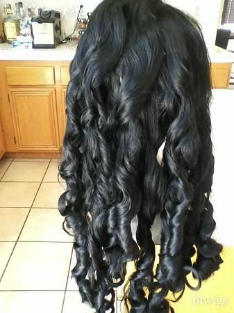 HUMAN BLEND YAKI HAIR CURL WITH FLEXI RODS 26-28 inches!!