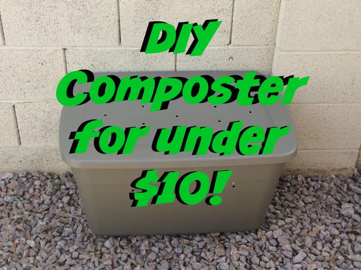 DIY Compost Bin, with step by step photo instructions! #composting #compost #compostbin #gardening