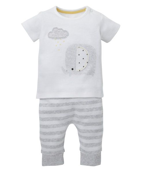 Elephant T-Shirt and Leggings Set - co-ordinated sets - Mothercare