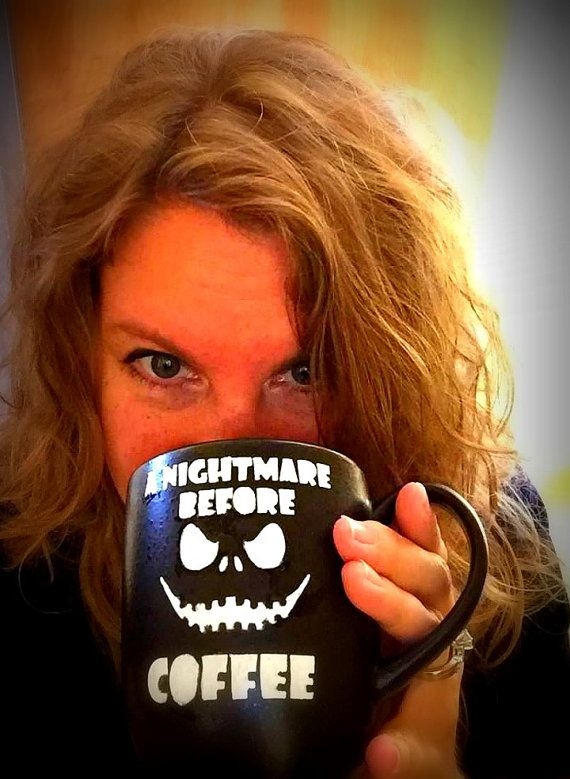 A Nightmare Before Coffee Jack Skellington & Zero by craftycubby