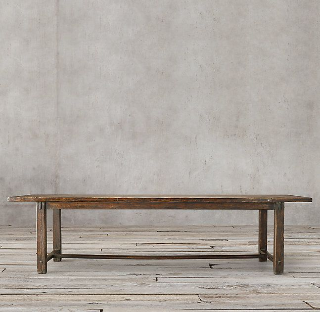 Crate And Barrel Long Wood Table Kitchen Lines