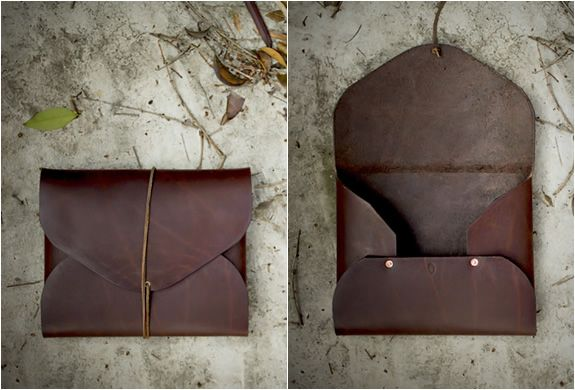 Leather Portfolios  http://www.blessthisstuff.com/stuff/wear/bags-luggage/leather-portfolios-by-field-theories/