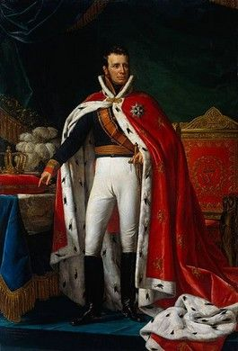 King William I of the Netherlands in Coronation Robes by Joseph Paelinck, ca. 1818–1819
