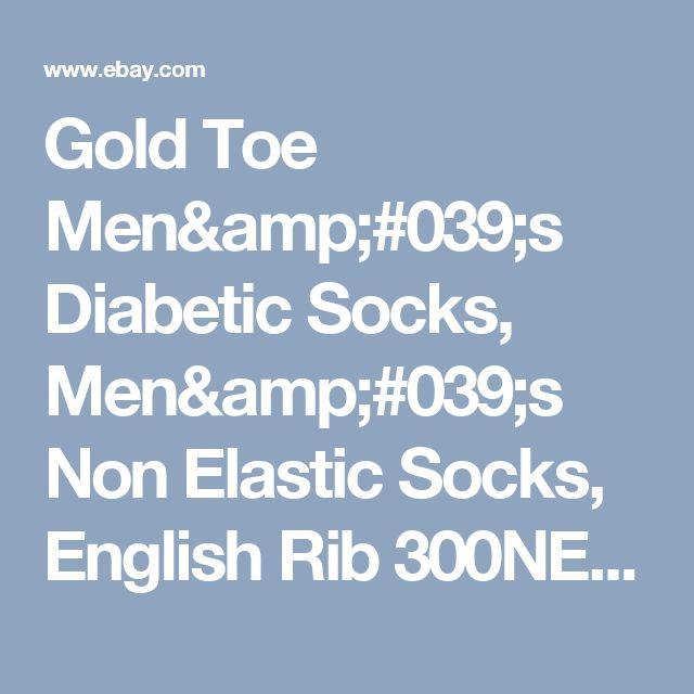Gold Toe Men's Diabetic Socks, Men's Non Elastic Socks, English Rib 300NE, White  | eBay