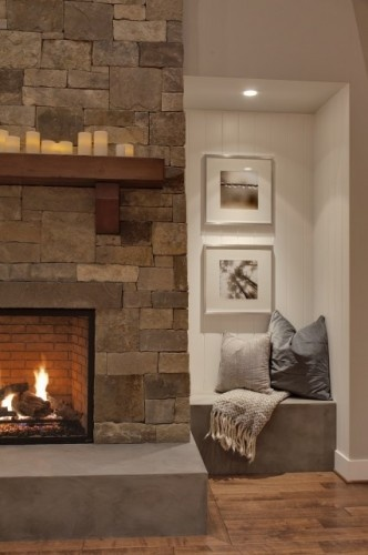 Fire place is a must, and the textured wall even better. One for me please!