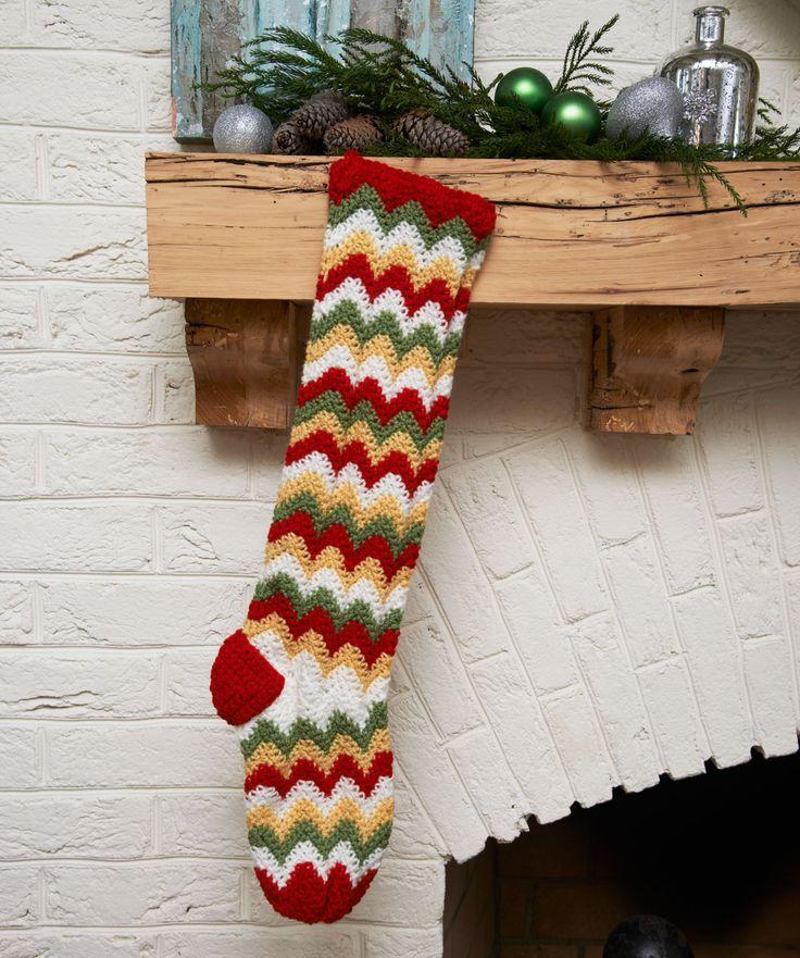 Zigzag Stocking crochet freebie, scrummy! thanks so xox