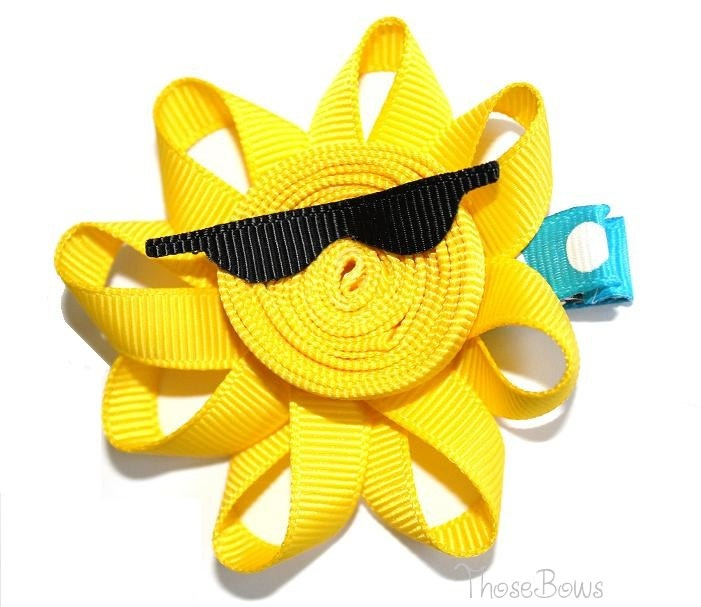 These darling bows will make you smile! Creative and unusual Clippies! Sunny Ribbon Sculpture Hair Bow Clippie