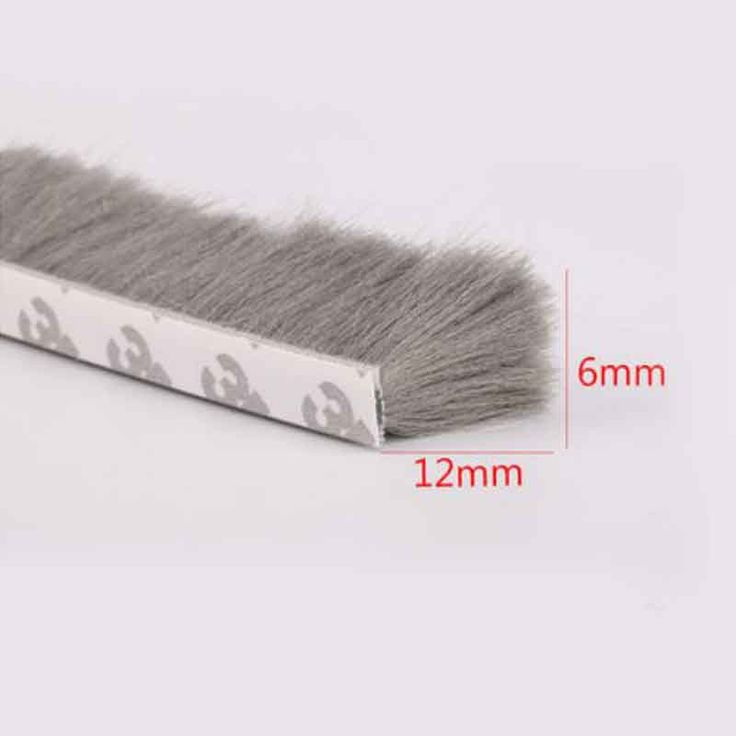 6mm x 12mm self adhesive window and door draught excluder brush pile sealing