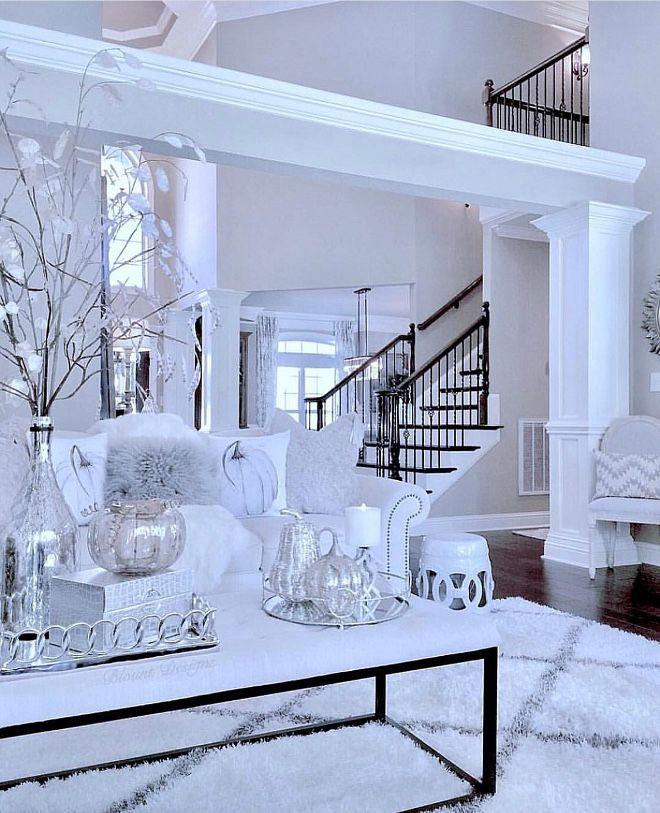 Fall Coffee Table Decor Silver Fall Coffee Table Decor Silver Decor Fallcoffeetabledecor Silverdecor White Living Room Living Room White Home #silver #and #white #living #room #ideas