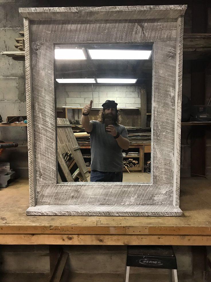 Farmhouse mirror whitewashed mirror distressed mirror