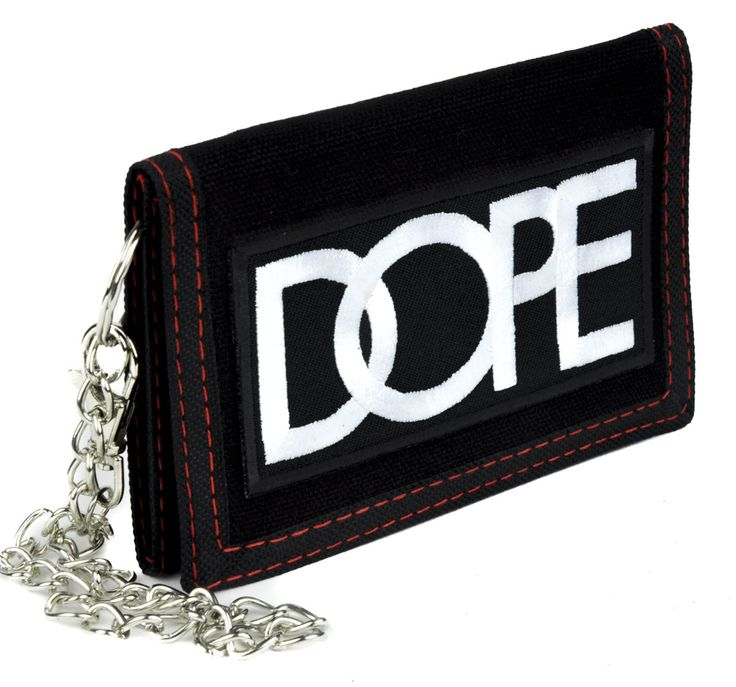 Dope Tri-fold Wallet with Chain Alternative Clothing