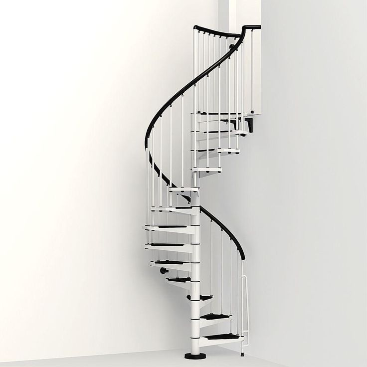 Best Arke Civik 47 In White Spiral Staircase Kit K03002 400 x 300