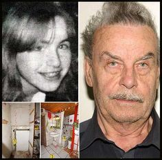 In 1984, Josef Fritzel locked his daughter Elisabeth, 18, into the secret cellar he had built in the basement. Family was told she ran away. He kept Elisabeth hidden for 24 years, during which she gave birth to 7 children, one died at 3 days old. 3 of the children were raised by her parents, Josef claiming Elisabeth dropped them on the doorstep. Josef confessed to his crimes when one of the cellar children, age 19,  had to be hospitalized. He was found guilty and given a life sentence.