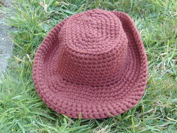 Crochet Baby Cowboy Hat fits 14 in. head 0-3 months Photo