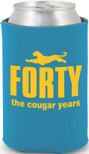 Totally Beer Koozies- 40th Birthday #koozies #birthday I will be wanting this! LOL