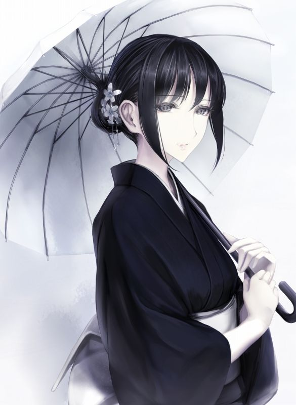 Terrific 17 Best Ideas About Anime Girl Kimono On Pinterest Anime Short Hairstyles For Black Women Fulllsitofus