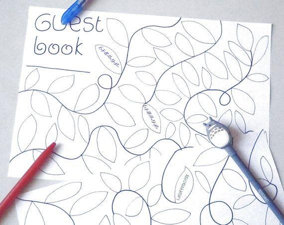 albero libro ospiti guestbook da stampare di LaSoffittaDiSte
