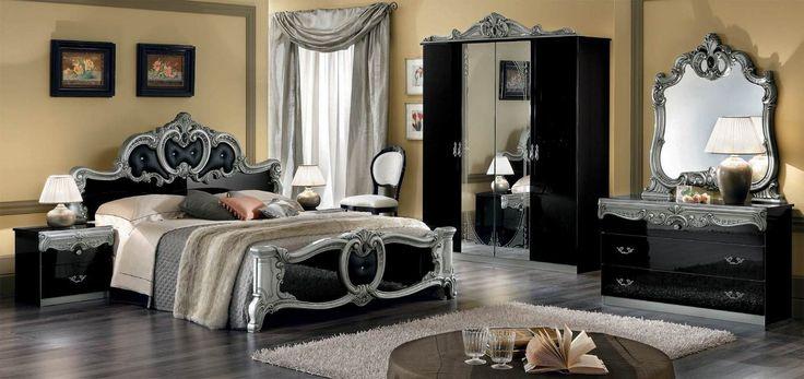 Έπιπλα Σπιτιού - Κλασικό Υπνοδωμάτιο Barocco Black