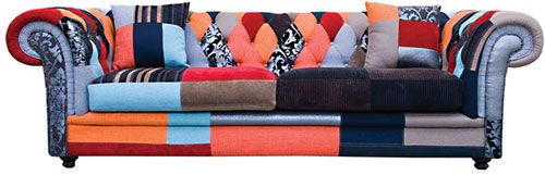 Chesterfield 3 Seater Patchwork - Hunter Furniture
