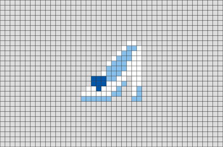 Cinderella Glass Slippers Pixel Art Cross Stitch