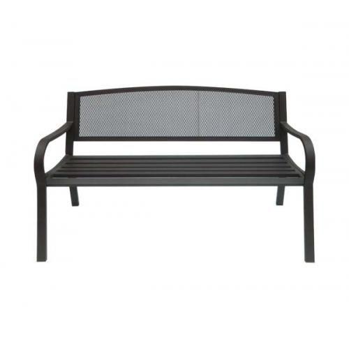 Παγκάκι μεταλλικό μαύρο 124x57cm c9499