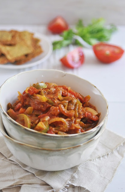 Chakalaka is a South African tomato-based relish that has its origins in the townships of Johannesburg.