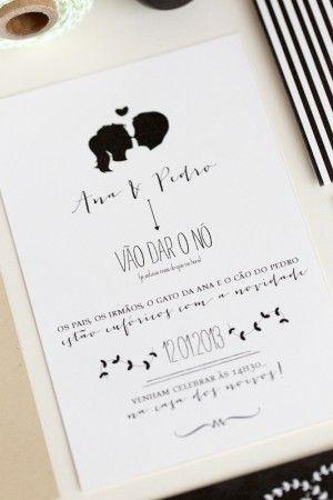 Silhouette Wedding Invitations by Branco Prata via Oh So Beautiful Paper