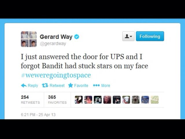 Gerard Way | fatherhood tweet :)