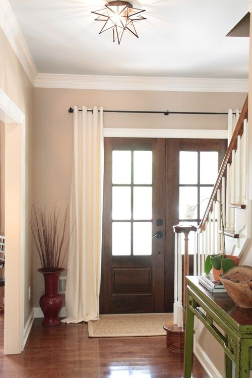 Best 25 Front Door Curtains Ideas On Pinterest Burlap