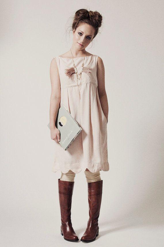 Überbackene Frau Kleid natürliche Tencel Plissee Baby von noemiah