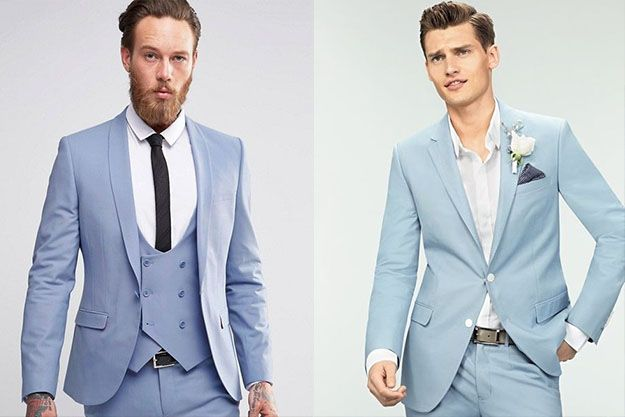 Blue Man suit for grooms and groomsmans // Elegant Blue suit for man // Costume bleu clair pour un mariage durant l'été